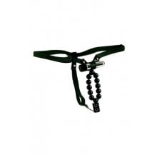 Вибротрусики Vibrating Lover's Thong With Stroker Beads