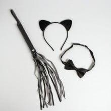 Карнавальный набор «Поиграем?» ободок, плетка, бабочка